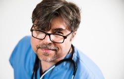 Doctor enojado Fotografía de archivo libre de regalías