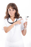 Doctor ENT is holding the Otoscope Royalty Free Stock Photos