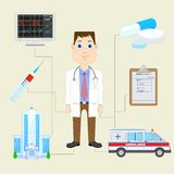 Doctor with Equipment Stock Images