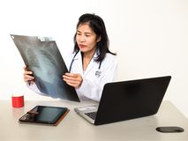 Doctor equipment and working site on human live Stock Photography