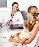 Doctor exam child. Stock Photos