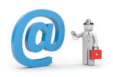 Doctor exam email sign Stock Image