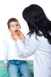 Doctor  examination small boy Stock Images