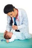 Doctor examine newborn baby Royalty Free Stock Photos