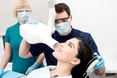 Doctor examined by dental x-ray Stock Image