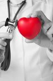 Doctor Examining A Heart Stock Photo