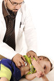 Doctor examining little baby Royalty Free Stock Images