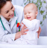 Doctor is examining little child Royalty Free Stock Photography