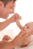 Doctor examining newborn Royalty Free Stock Photo