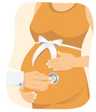 Doctor examining a pregnant woman Royalty Free Stock Photos