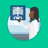 Doctor examining radiograph vector illustration. Stock Photos