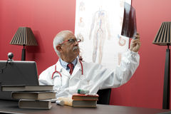 Doctor examining x-ray Royalty Free Stock Photography