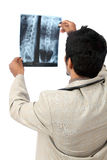 Doctor examining the X-ray Stock Photo