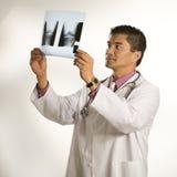 Doctor examining x-ray. Stock Photos
