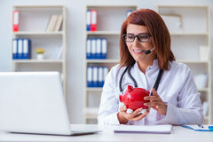 The doctor in expensive healthcare concept Royalty Free Stock Photos