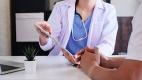 Doctor explain to patient in the medical clinic or hospital. healthcare and wellness living