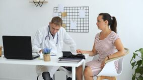 Doctor Explaining Health Examination Results
