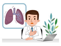 Doctor explaining the lungs Royalty Free Stock Photography