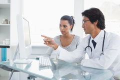 Doctor explaining results to his patient Royalty Free Stock Image