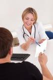 Doctor explains prescription Royalty Free Stock Photography
