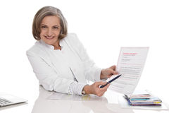 Doctor explains preventive power of attorney Stock Image