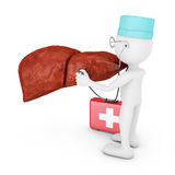 Doctor explores liver Royalty Free Stock Photos