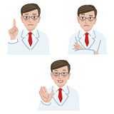 Doctor expression Royalty Free Stock Photos