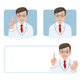 Doctor expression Royalty Free Stock Images