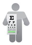 Doctor and eye exam chart illustration design Stock Photography