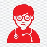 Doctor Face emotion Icon Illustration sign design stock photo