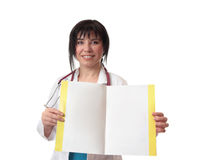 Doctor with fact sheet royalty free stock photo