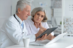 Doctor and famale patient Stock Photo