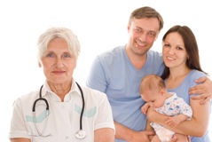 Doctor and family Stock Photography