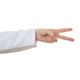 Doctor female hand over white isolated background Stock Photography