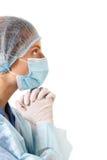 Doctor female praying Royalty Free Stock Image