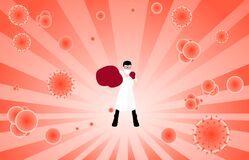 Doctor Fight Virus Concept. Royalty Free Stock Photos