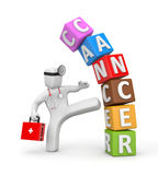 Doctor fights with cancer Stock Image