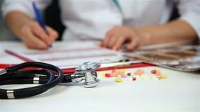 Doctor Filling Medical Card