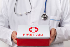Doctor With First Aid Kit Royalty Free Stock Images