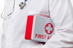 Doctor and First Aid Kit Stock Photography