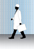 Doctor with first-aid kit. Vector illustration Stock Photos