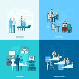 Doctor Flat Set Royalty Free Stock Images