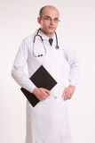 Doctor with folder Stock Photos
