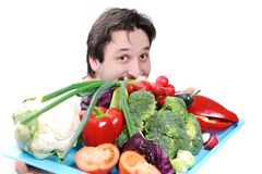 Doctor with food Royalty Free Stock Photo