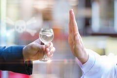 Doctor forbids drinking alcohol . A concept design stock photos