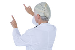 Doctor gesturing with hands Stock Photography