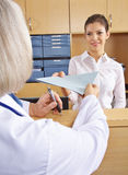 Doctor getting medical records in hospital Royalty Free Stock Image