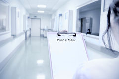 Doctor getting ready for work Royalty Free Stock Images