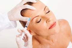 Face lifting injection Stock Images
