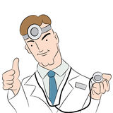 Doctor Giving Positive Test Result Royalty Free Stock Images